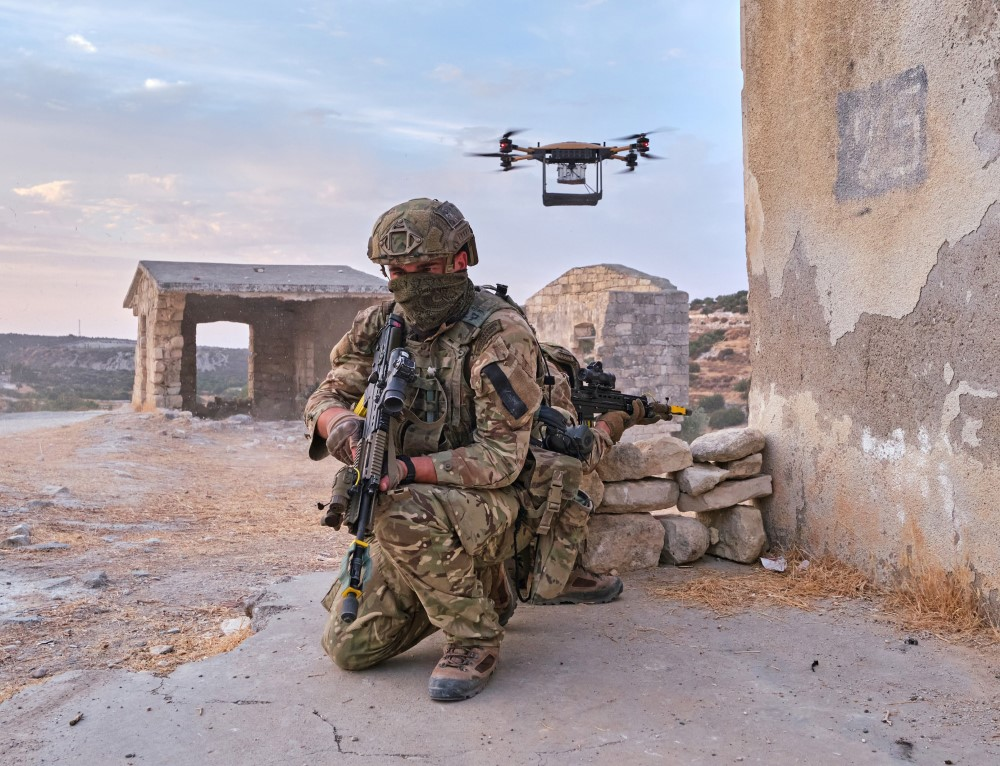 Soldier with drone
